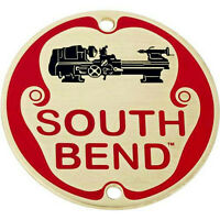 South Bend Lathe Nameplate, 2-7/16 Solid Brass Name Plate W/ Enamel Finish