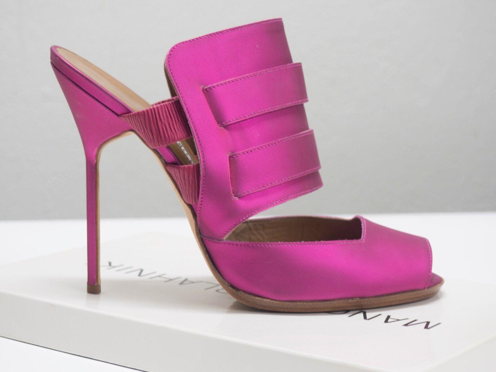 MANOLO BLAHNIK High Heels Hot Fuxia Palme Palme Palme (EU 40.5, US 9.5) 4672ab