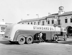 1942-Standard-Oil-Tanker-Truck-Tracy-CA-Vintage-Old-Photo-8-5-034-x-11-034-Reprint