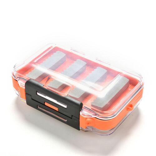 Doppelseitige wasserdichte Tasche Fliegenfischen Box Slid Foam Insert Hold  ZP