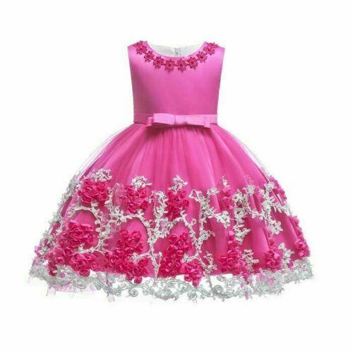 Dresses baby girl princess dress flower formal kid tutu bridesmaid party wedding