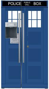 refrigerator decals. image is loading tardis-vinyl-refrigerator-decals-fridge-wraps-uk-vinyl- refrigerator decals v