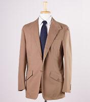 $1975 Belvest Cocoa Brown Twill Cotton Sport Coat 42 R Blazer on sale