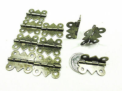 Case Hinge -small- for leather cases and boxes Antique Brass 20mm x 24mm Qty 20