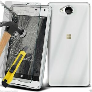 For-Nokia-Mobile-Phone-Clear-Gel-Rubber-TPU-Case-amp-Tempered-Glass-Film-Cover