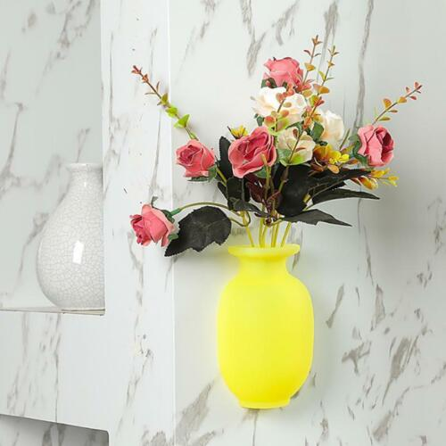 Magic Silicone Vase Sticker No Trace No Hole Suction cup Wall Hanging Vase Decor
