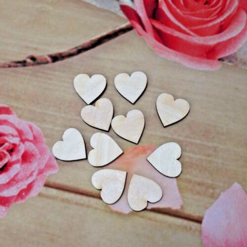 Natural Wooden Blanks Tag Cut Out Hearts Set Shapes Craft Supplies