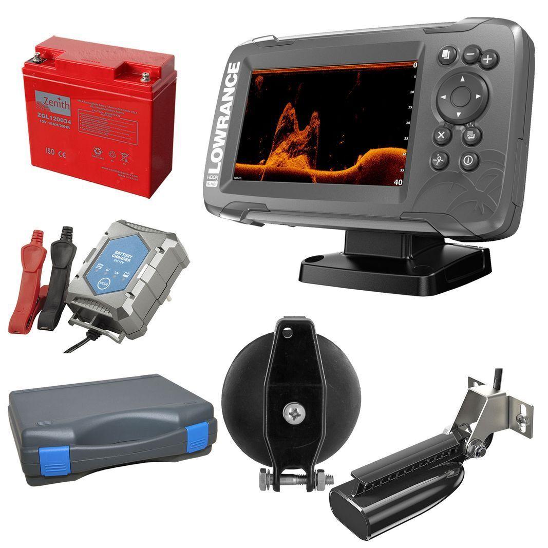 Lowrance Hook2-5x GPS Splitshot Ecosonda (200 455 800  Khz ) Portátil Juego 2  en venta en línea