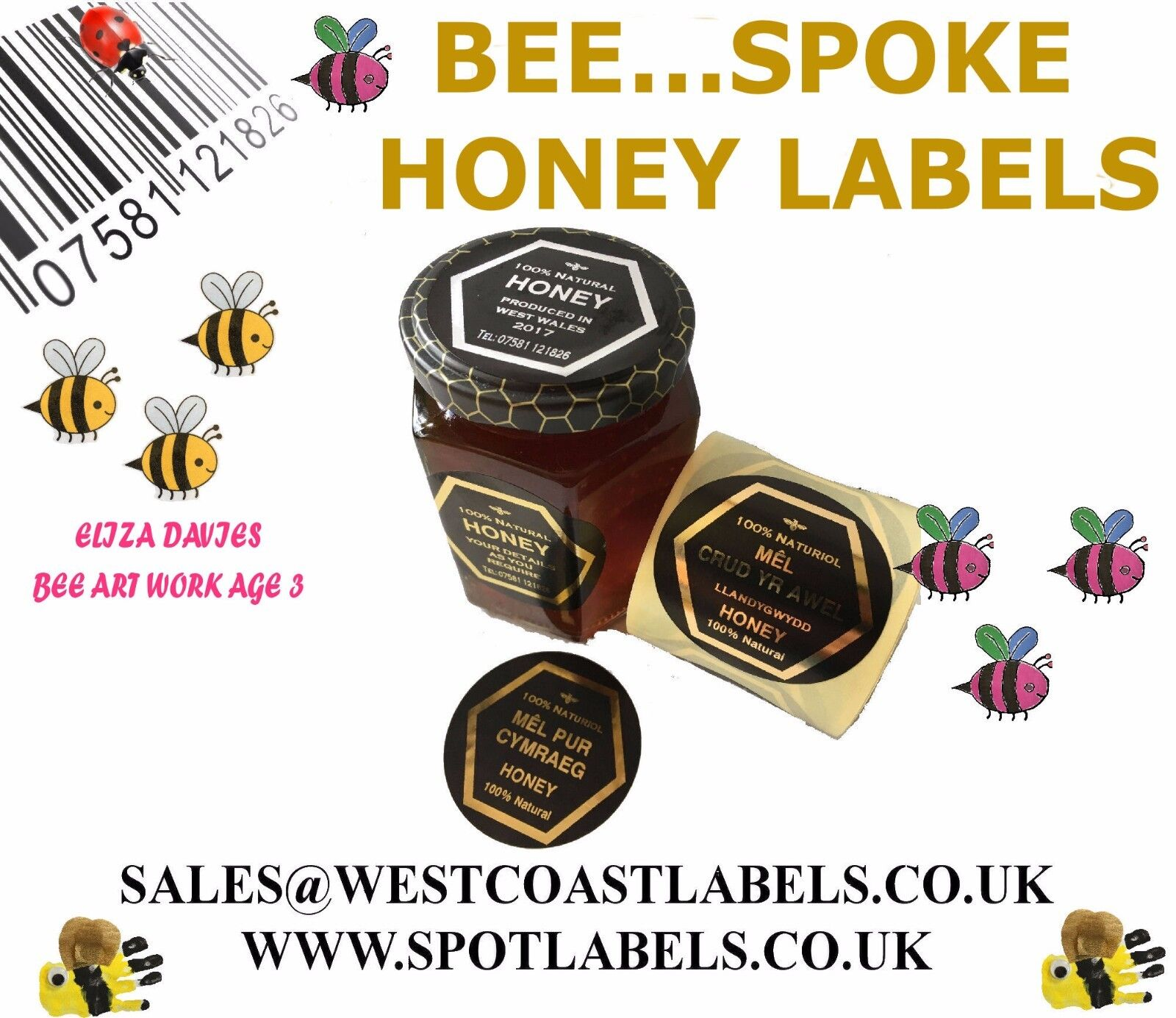 Personalised Honey Jar Labels