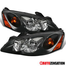 For 2005 2010 Pontiac G6 Black Headlights Head Lamps Replacement Leftright Fits Pontiac G6
