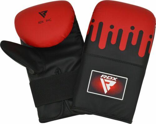 RDX Punching Bag Gloves Boxing Training Sparring Mitts Muay Thai Kickboxing
