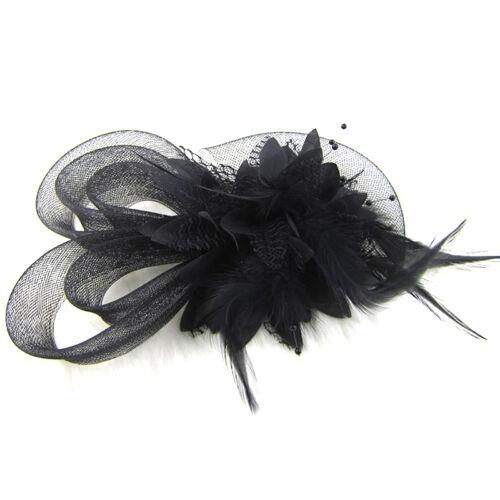 Blume Kopfschmuck mit Federn Braut Hochzeit Hairpin C 2018 Haarband Stirnband