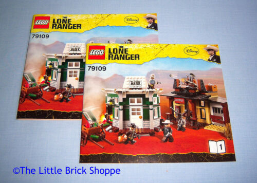 Lego The Lone Ranger 79109 Colby City Showdown INSTRUCTION BOOK 1 /& 2 ONLY
