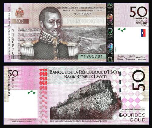 P 274a COMMEMORATIVE Uncirculated HAITI 50 GOURDES 2004