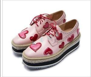 womens-oxfords-shoes-round-toe-wedge-high-heel-lace-up-heart-pattern-slip-on