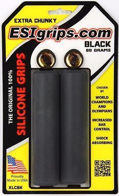 EXTRA CHUNKY BLACK ESI 34mm Silicone MTB Bike Grips Shock Absorbing 130mm