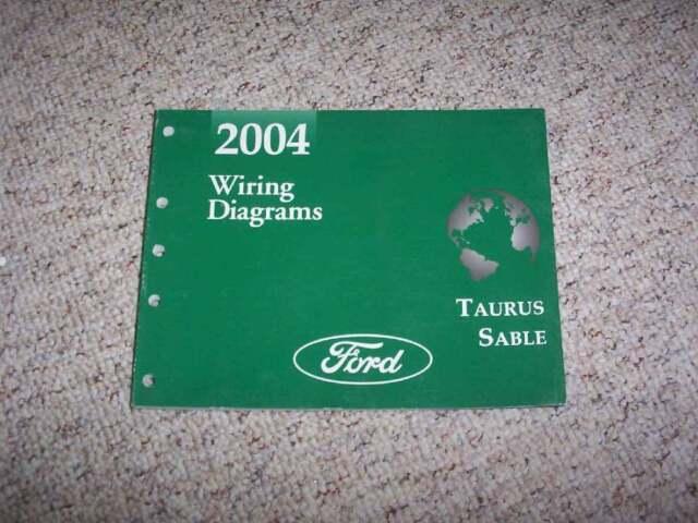 2004 Ford Taurus Electrical Wiring Diagram Manual Lx Se Ses Sel 3 0l V6