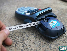 Black on White Plastic label 12mm x 4m tape for Dymo LetraTag label maker 1 PACK