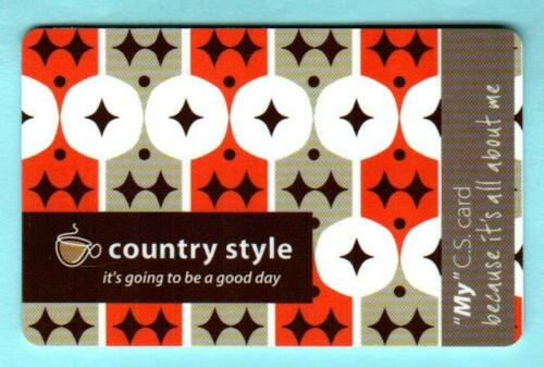 """COUNTRY STYLE /""""My/"""" CS Card 2012 Gift Card Canada $0"""