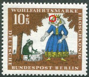 Berlin-295-I-sauber-postfrisch-Plattenfehler-Brueder-Grimm-1966-MNH