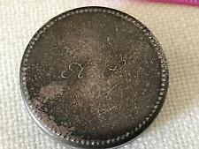 Vintage silver 800 Circular Pill Box 28mm - 13.1g