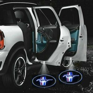 2-Mustang-Logo-Wireless-Car-Door-Welcome-Laser-Projector-Shadow-LED-Light-Emblem