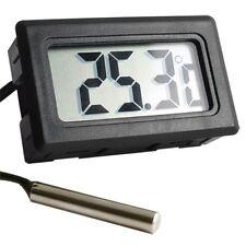 Schwarz Digital LCD Thermometer Temperatur Tester für Fisch Aquarium Kühlschrank