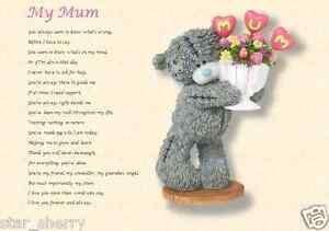 Image Is Loading My Mum Laminated Poem Gift Written By Er