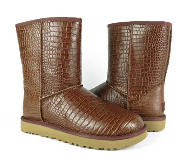 ce3247cb579 UGG Australia Classic Short Croco Spice Brown BOOTS Womens Size 11 *