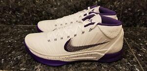 e5b3617b32eb Nike KOBE AD MID Mens Basketball Shoes 13 White Court Purple 922482 ...