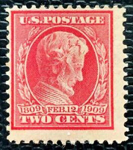1909 US SC#369 2c Lincoln Bluish Paper Mint H/OG CV:$150