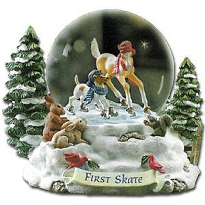 Breyer-700114-First-Skate-2004-Holiday-Snow-Globe-Christmas-Model-Horse-NIB