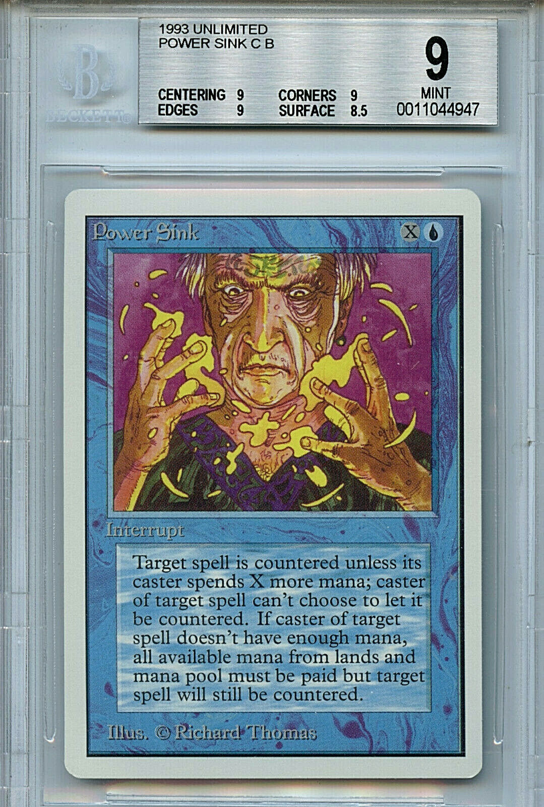 MTG Unlimited Power Sink BGS 9.0 (9) (9) (9) Mint Magic Card Amricons 4947 fcd338