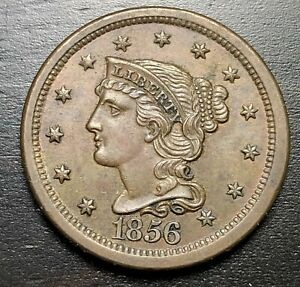 1856-Braided-Hair-Large-Cent-MAKE-US-AN-OFFER-B4928