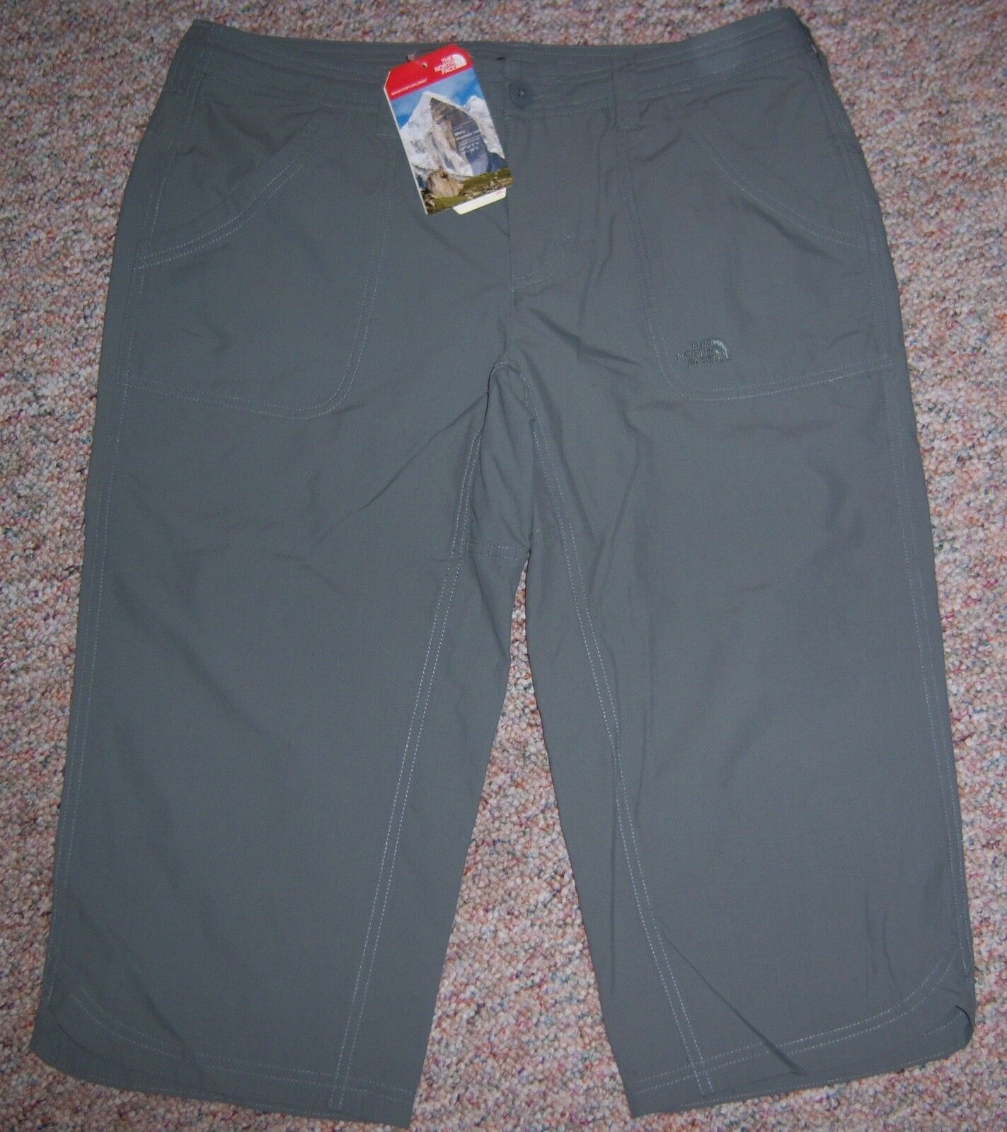 THE NORTH FACE Olive Green Wide Leg Low Rise Capris Pants Size 10 Regular NWT