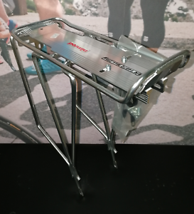NIMROD SILVER REAR BICYCLE PANNIER RACK SUITABLE FOR  700C WHEELS