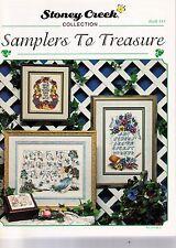 Kreuzstich Sampler Stickmustertuch Buch mit 7 Stickvorlagen Blumen ABC