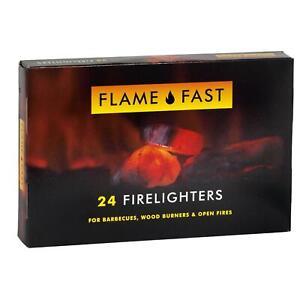 legno BRUCIATORI /& incendi Flamefast ACCENDI FUOCO x48 ideale per barbecue