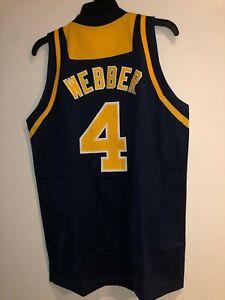 Chris Webber Maize Blue 4 Michigan New Custom Basketball Jersey Size S 3xl Ebay