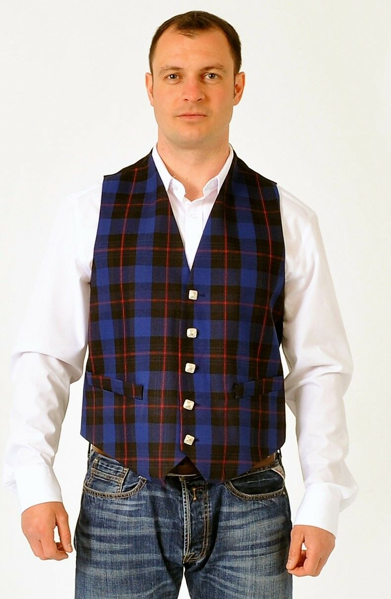Rangers tartan waistcoat vest 4 Kilts REDUCED to clear