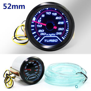 52mm-Turbo-Boost-Pressure-Pointer-Gauge-Meter-Smoked-Dials-30Psi-Pob-LED