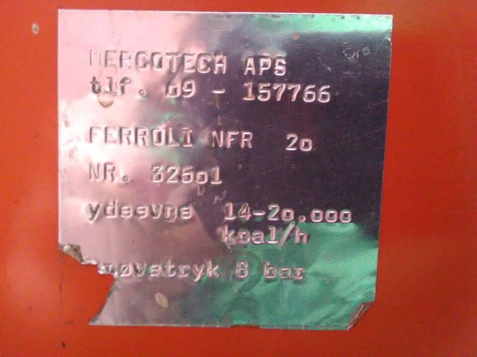 Oliefyr, Ferroli 20 kw med Bentone brænder