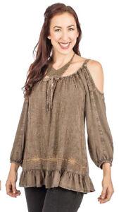 3f08b3e329830a Image is loading SACRED-THREADS-cocoa-embroidery-stonewashd-rayon-peekaboo -cold-