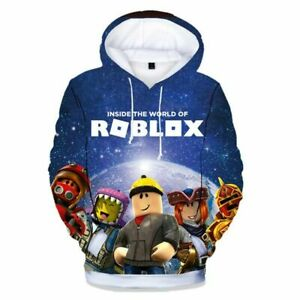 Roblox 3D Kostüm Jungen Langarm Kapuzenpulli Kapuzen pullover Sweatshirt Hoodie