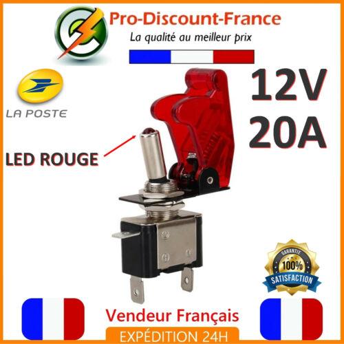 1 Bouton Interrupteur ROUGE LED Métal 12V 20A Voiture SPST On Off Switch Bascule
