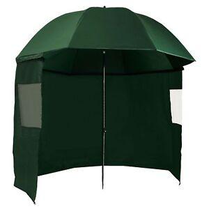 CampFeuer-Angelschirm-240-cm-mit-Umhang-Schirmzelt-Seitenwand-u-Sichtfenster
