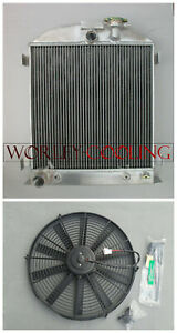 Aluminum-Radiator-and-Fan-fits-3-Core-1932-Ford-Chopped-engine-32-AT-Full-64mm