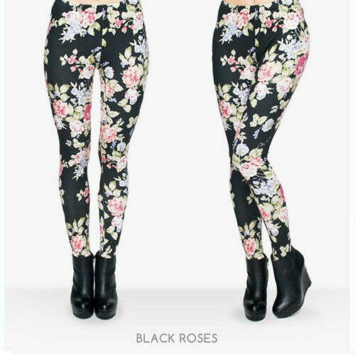 Damen Blumen rm Muster bedruckte Sport Leggings Leging Jeggings Legging Leggins