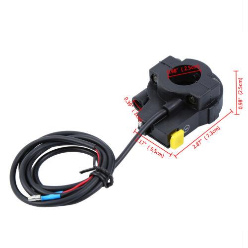 Motorized Bicycle Handle bar Grip W//Throttle Cable Set For 49cc 50cc 66cc 80cc