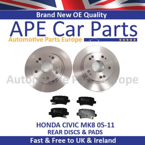 Honda Civic 1.4 1.8 2.2 CDTi 2005-2012 Rear Brake Discs /& Pads New